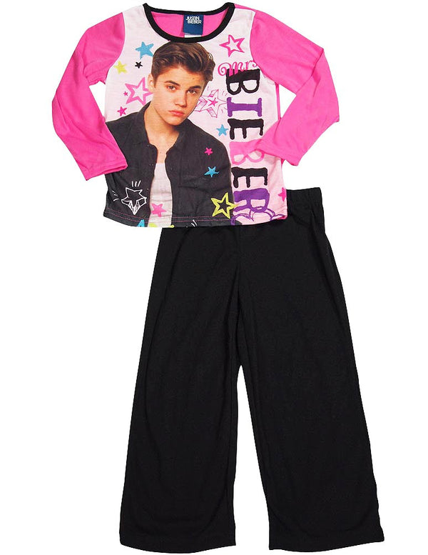 Justin Bieber - Big Girls Long Sleeve Justin Bieber Pajamas
