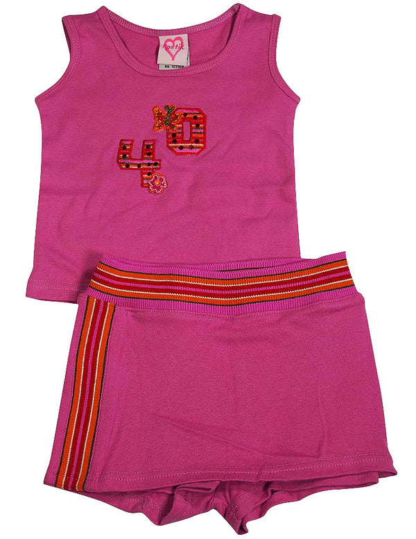 Lipstik - Baby Girls 2 Piece Skort Set
