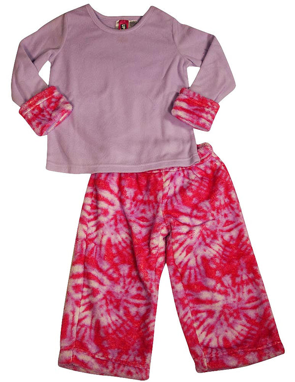 Up Past 8 by Sara's Prints - Big Girls' Long Sleeve Fluffy Pajamas