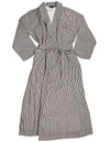 Majestic International - Mens Long Sleeve Striped Spa Robe
