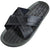 Panama Jack Mens Faux Leather X-Band Cross Band Slide Sandal Shoe, 36757