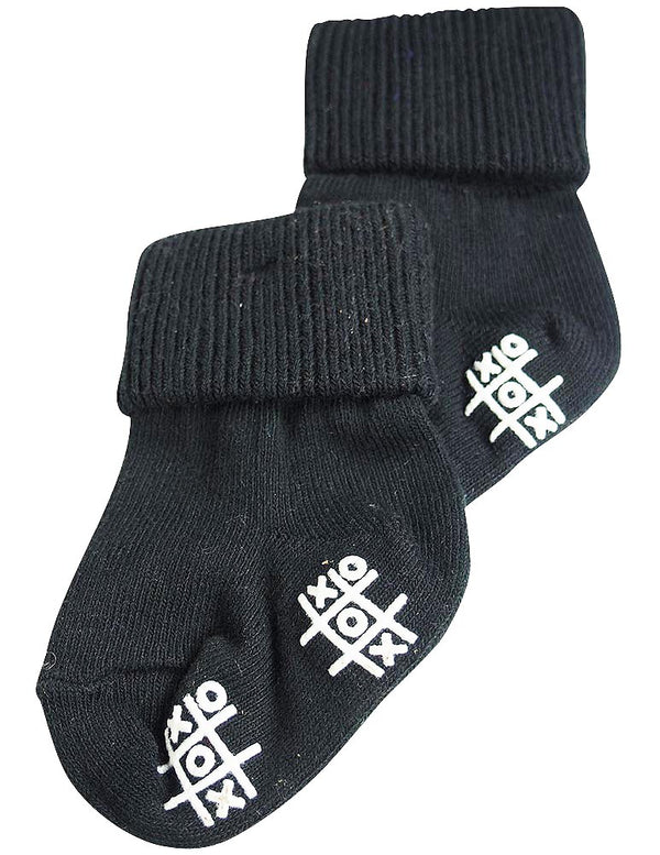 Tic Tac Toe - Baby Boys Triple Roll Sock