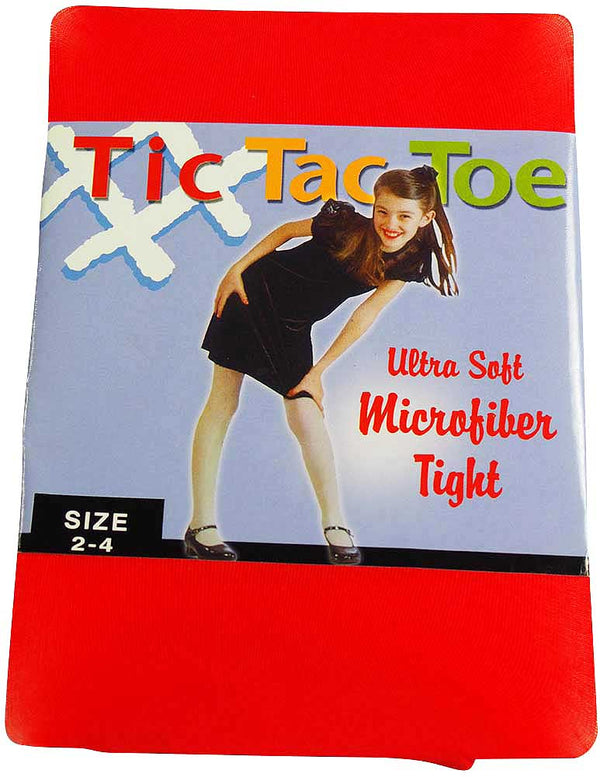 Tic Tac Toe - Little Girls Microfiber Tight