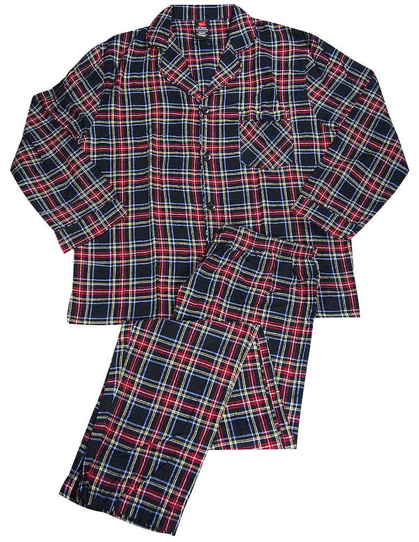 Hanes Big and Tall Men's Flannel Pajama Set