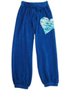 Penelope Wildberry Little Girls Terry Cloth Heart Fashion Sweat Pants, 37682