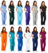 Ultra Soft Medical Nurse Uniform Premium Womens Junior Fit Mock Wrap Scrub Sets, 37904