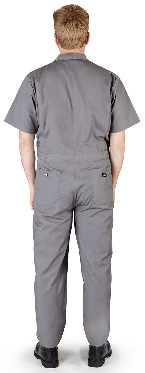e41b007450918 Natural Workwear Mens Short Sleeve Basic Blended Work Coverall XS - 4XL  Order 1 Size Bigger