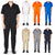 Natural Workwear Mens Short Sleeve Basic Blended Work Coverall XS - 4XL Order 1 Size Bigger, 38099