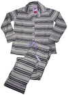 B.O.P.J. - Ladies Long Sleeve Cozy Microfleece Pajama Set