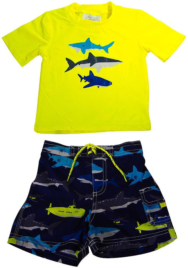 Carter's - Baby Boys 2PC Short Sleeve Rashguard Swim Set