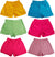 Toddler Girls Basic Edition Knit Gym Playground Short - Available in 6 Colors, 38957