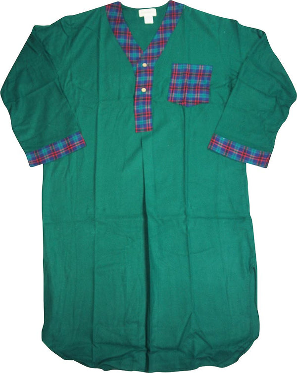 St. Johns Bay - Mens Long Sleeve Flannel Night Shirt Gown