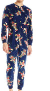 Briefly Stated Men's Simpsons Christmas Lights Onesie One Piece Fleece Pajama, 39845