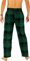 Norty Mens Cotton Blend Yarn Flannel Pajama Lounge Sleep Pant - 16 Prints Available