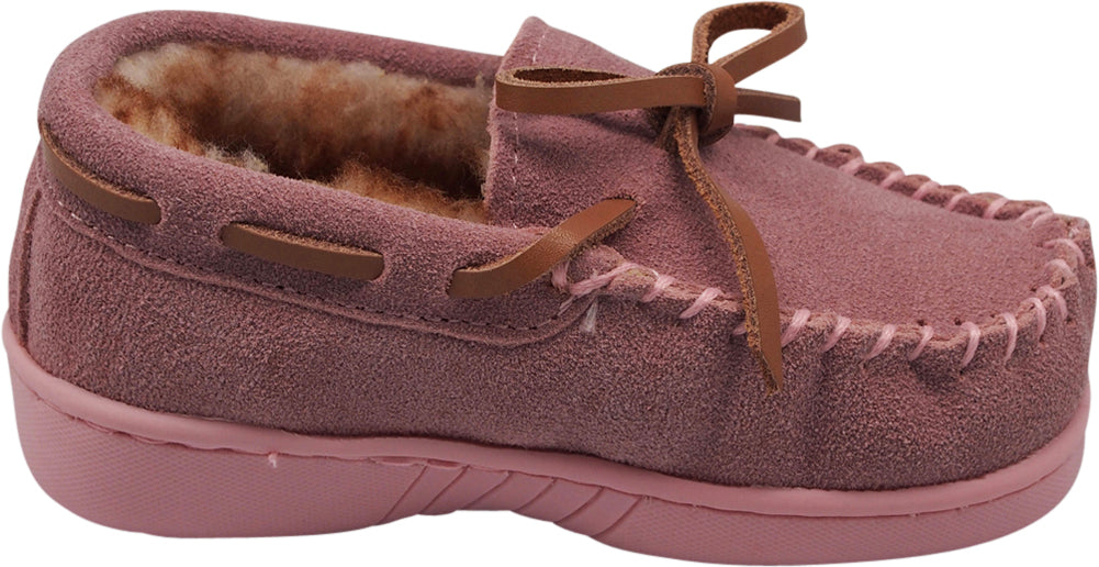 91b23a486a41 NORTY Little and Big Kids Boys Girls Unisex Suede Leather Moccasin Slip On  Slippers