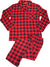 Hanes Big Mens Long Sleeve Flannel Pajama Set
