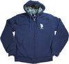 U.S. Polo Assn Mens Fleece Sherpa Lined Hoodie Sweatshirt Jacket, 40537