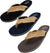 NORTY Young Men's Lightweight Thong Flip Flop Sandal for Everyday Beach and Pool - Runs One Size Small, 40574