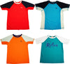 Tommy Bahama Boys Relax Short Sleeve Color Blocked Rash Guard Top Shirts, 40609