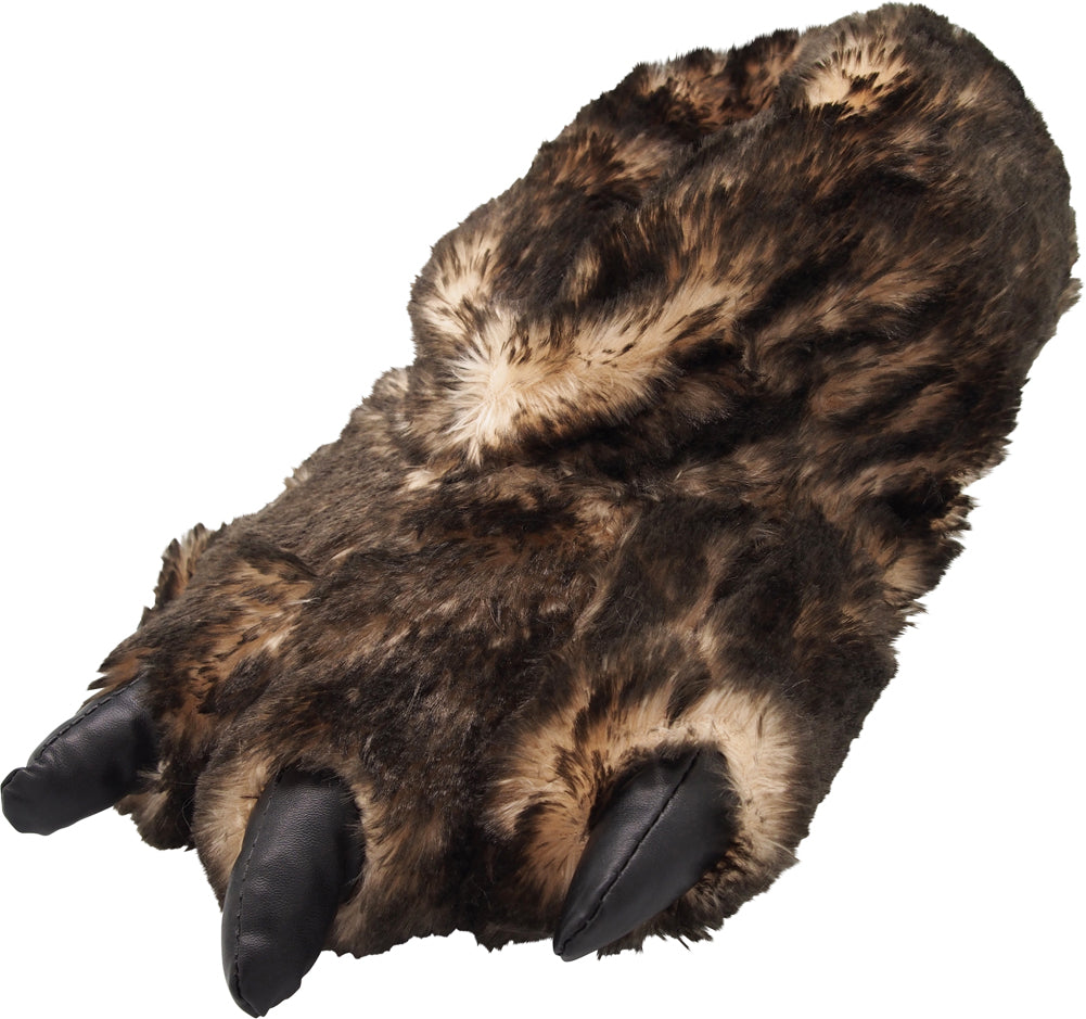 41b463ba839 Norty Grizzly Bear Stuffed Animal Claw Slippers - Plush Paw Slippers -  Furry Ani