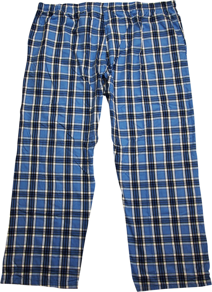 3XL Hanes Short Sleeve Short Pant Plaid Blue Pajama S L 2XL M