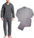 Hanes Men's Long Sleeve Woven Broadcloth Pajama Sleep Set, 41223