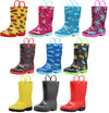 Norty Toddlers Little Big Kids Boys Girls Waterproof PVC Rain Boots - 10 Colors, 41264
