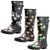 Norty Women's Hurricane Wellie - Glossy Matte Waterproof Mid-Calf Rainboots, 41300
