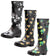 Norty Women's Rain Boots Hurricane Wellie - Glossy Printed Waterproof Hi-Calf Rainboots