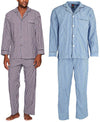 Hanes Men's and Big Men's Long Sleeve Classic Woven Broadcloth Pajama Set, 41306