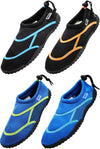Norty Big Kid Young Mens Sizes 5-10 Water Aqua Sock Shoe Pool Beach Surf Slip On, 41368