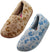 MoonBeams - Women's Plush Floral Twin Gore Slipper - Wide and Medium Widths, 41436