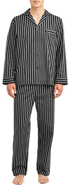 Hanes Men's Long Sleeve Woven Pajama Sleepwear Lounge Set Sizes M - 5XL, 41494