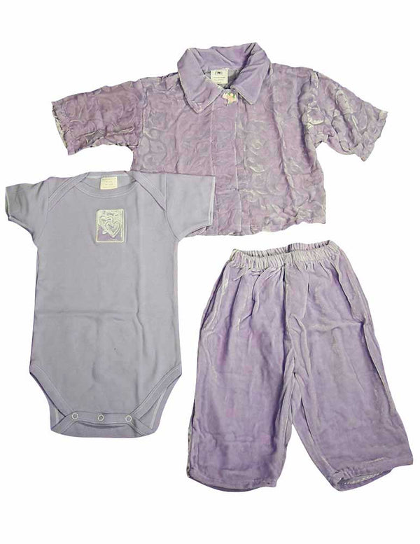 Little Giraffe - Baby Girls, 3-Piece Pant Set