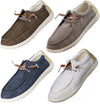 NORTY - Mens Lightweight Loafer Slip On Lace Up Boat Shoe, 41507