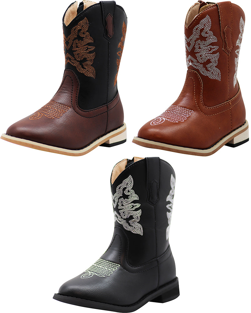 NORTY Boys Girls Unisex Western Cowboy Boot for Toddlers to Big Kids