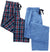 Hanes Men's Big and Tall Woven Pants - 2 Pack Plaid and Solid