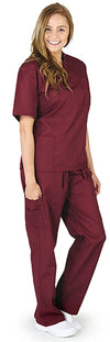 Natural Workwear Uniform - Unisex - Premium Medical Nurse Scrubs Set - XXS - 3XL