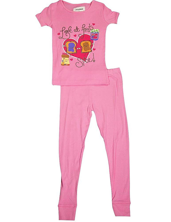 Joe Boxer - Little Girls Short Sleeve PB&J Pajamas