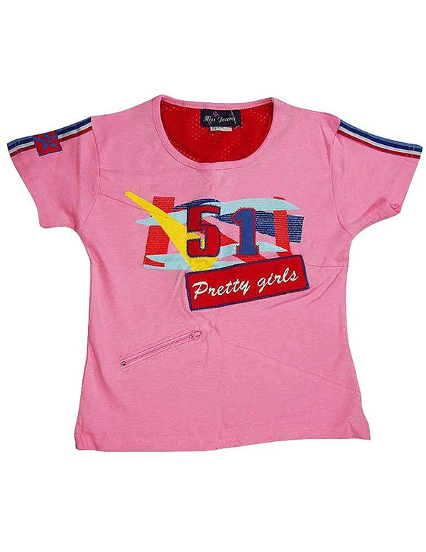 Miss Jeans - Big Girls' Short Sleeved Tee