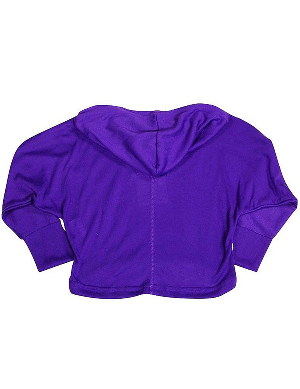 Purple Orchid - Little Girls Long Sleeve Hoodie Top