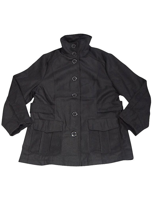 Black Lipstick - Plus Ladies Peacoat