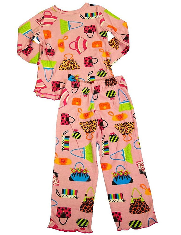 Sara's Prints - Little Girls Long Sleeve Pajama