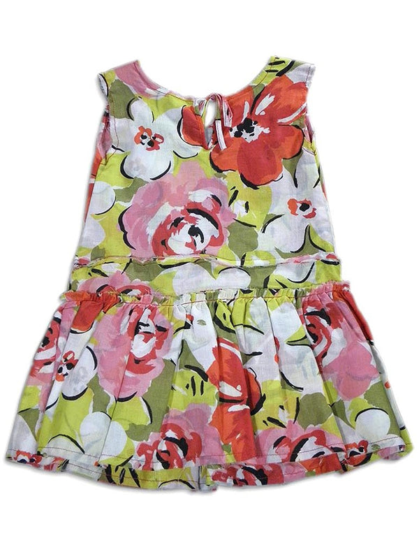 Queen Bee - Little Girls Floral Dress