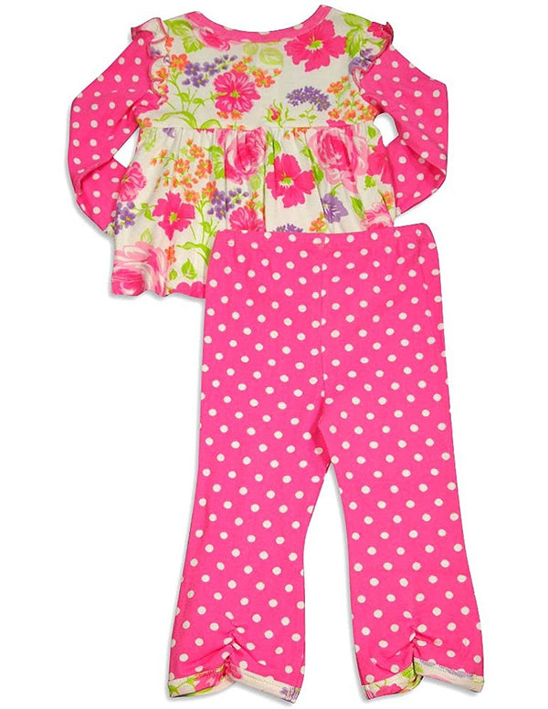 Baby Lulu - Baby Girls Long Sleeve Jill Pant Set