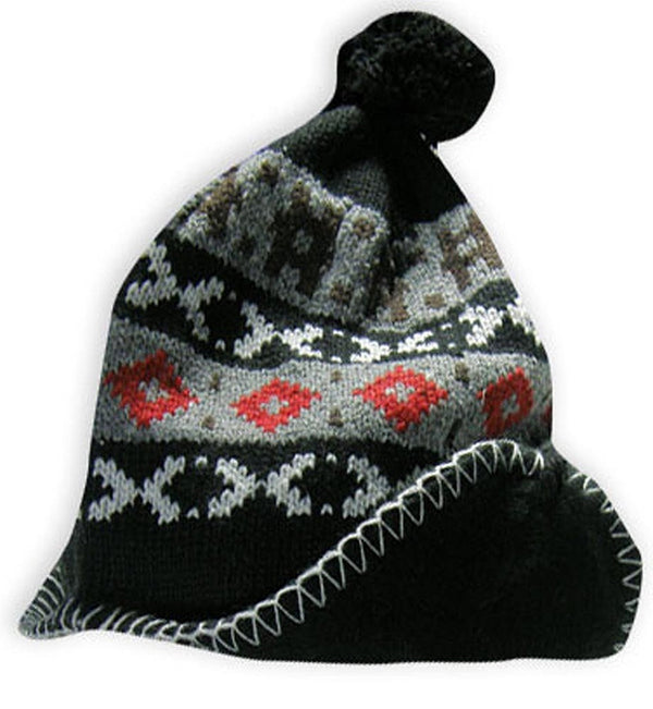 Winter Warm-Up Mens Jacquard Fleece Lined Knit Hat - One Size Fits Most