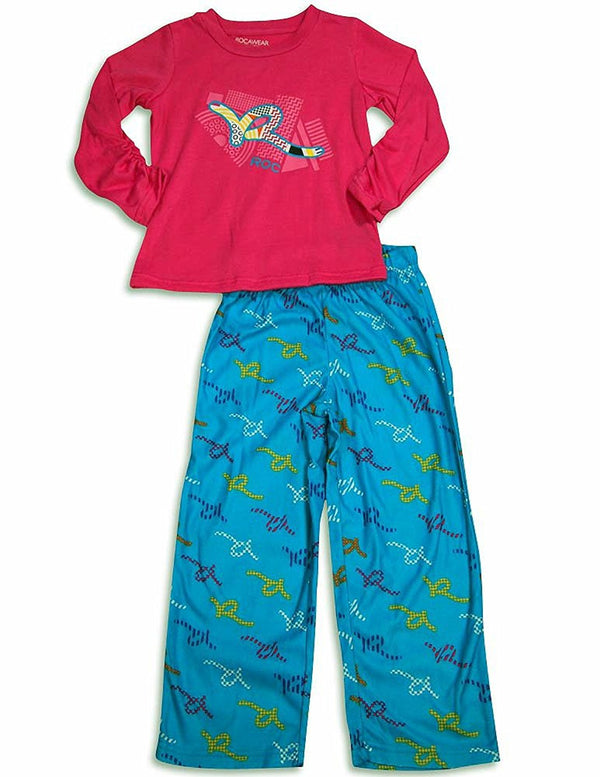 Rocawear - Little Girls' Long Sleeve Pajamas