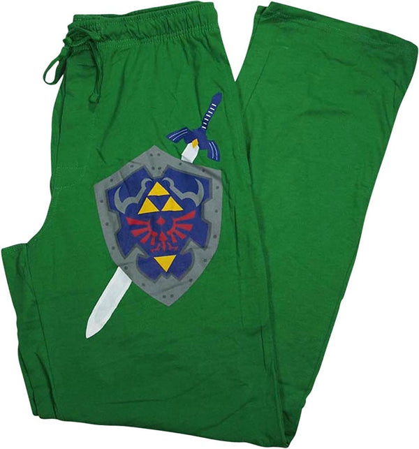 Legend of Zelda Shield Mens Lounge Pants in Green