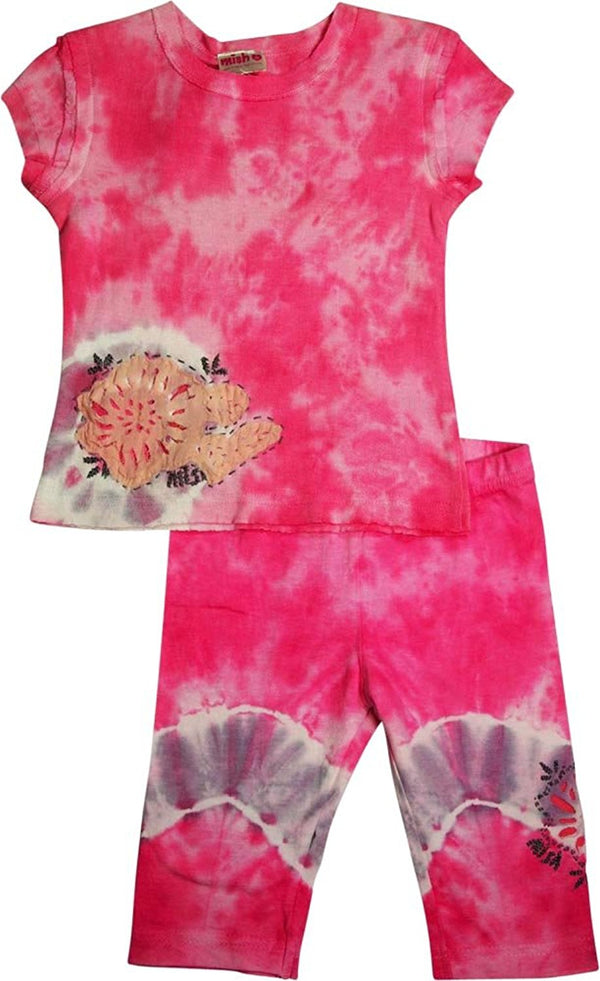 Mish - Little Girls - 3 Styles - Short Sleeve Bike Short Set