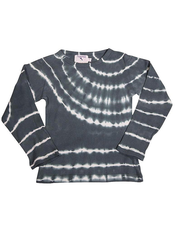 Purple Orchid - Little Girls Long Sleeve Tie Dyed Top